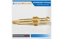 klikkon custom precision knurling brass air quick connect coupler