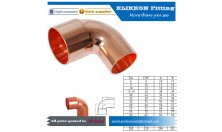 Copper pipe fitting 45 degree elbow