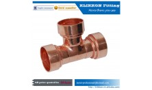Red Copper Custom Made Steric Three Way Tee Fittings