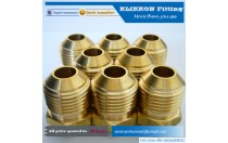 klikkon low price brass parts copper pipe flare fitting tube connector brass barb hose fitting brass compression pipe fitting