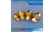 straight fittings brass material fittings Flared Copper Compression Union
