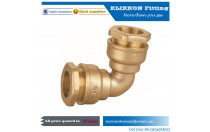 Brass Compression Tube Fitting 90 Degree Elbow