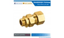 Hot sale brass compression fitting coupling straight lead free for pex and copper tube