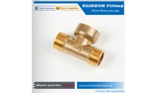Low MOQ Plumbing 1/2 Inch Tee Fastener Brass Fitting Supplier