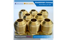 Hose Nipple Fitting Connector,Male Thread brass Flared Fittings For Water Oil And Gas