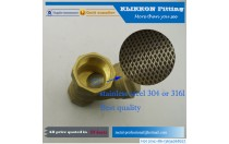 china hose nipple fitting factory Thick wall brass pipe/brass tube sizes