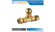 China Brass Fitting Supplier 5/8 Standard Tee Push Fitting, Lead Free Push Fit Tee
