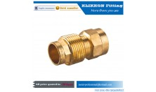 brass pipe fittings factory Water PEX AL PEX Pipe Fitting 2 Male 1 Female Brass Tee
