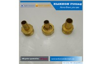 wholesale oem cnc sanitary parts Equal Tee Brass Compression Fittings For Copper Pipe