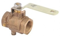 Brass 12v 3 way electric ball valve for Water flow control with CE and ROHS