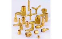 brass plating union cross tube fitting