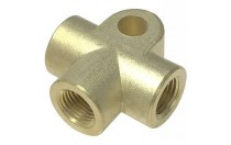 brass pump accessories 5 way brass cross pipe fitting