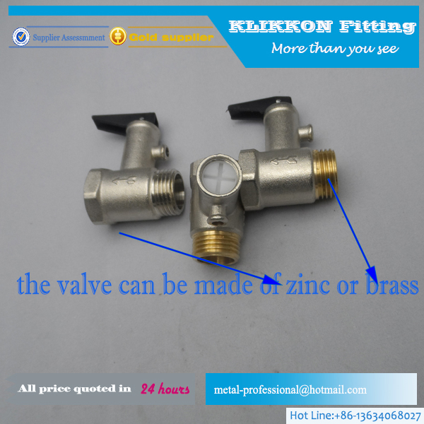 Air Water Pressure Relief Valve