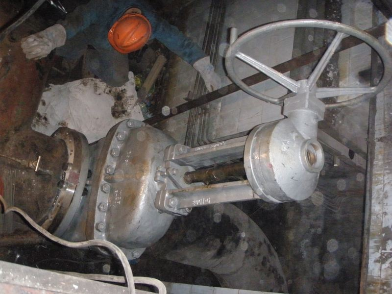 installation of the gate valve